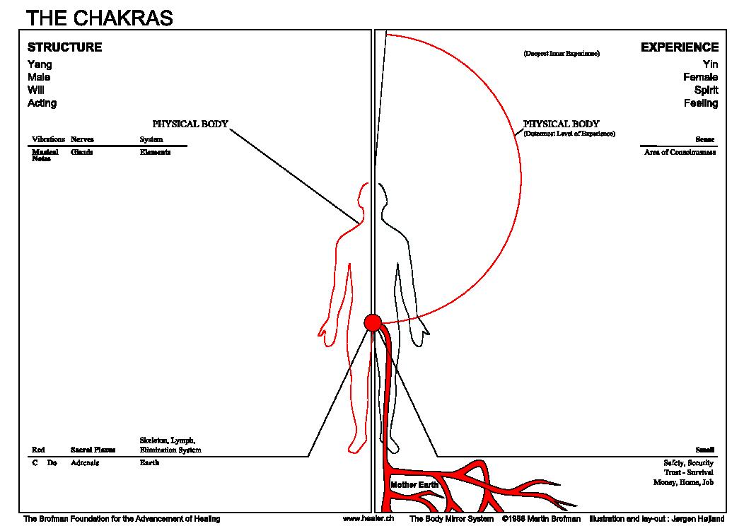 01 Informations Chakra rouge contours En
